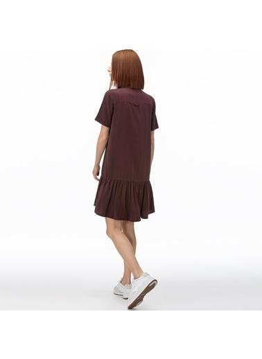Lacoste Kadın V Yaka Elbise EF0015T.15K Bordo